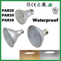 iluminação de teto ao ar livre venda por atacado-DHL NAVIO IP65 Waterproof PAR20 PAR30 PAR38 E27 LED 110V-240V 7W 12W 15W Regulável LED teto lâmpada Focos Bulb