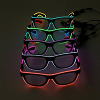 LED Party Lighting Glasses Moda EL Two-color Glowing Glasses Xmas Birthday Halloween Neon Party Bar Costume Decor Tool OOA2461