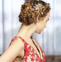 blüten süßwasserperlen großhandel-Beijia Gold Süßwasserperlen Haar Kamm Vintage Braut Haarschmuck Hochzeit Kämme Zubehör Blume Frauen Headwear