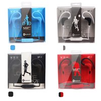 Wholesale Earhook Mic - bt1 BT-1 Tour Earphone Bluetooth Sport Earhook Earbuds Stereo Wireless Neckband Headset Headphone with Mic for Universal Cellphone EAR230