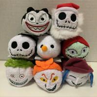 Wholesale Couples Toys - Nightmare Before Christmas Jack Plush Toy tsum8 style 10cm Sally doll couple phone pendant rub