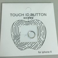 Hot venda Touch ID Metal Alumínio Home Button Sticker para iPhone 6s 6 / 6s plus / 6 plus / 5s 5 Finger Identificação