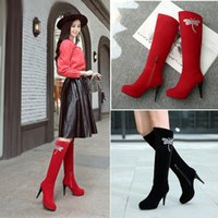 Wholesale Quality Wellington Boots - Girl's boots Wellington boots Knight boots boots Europe and the United States and Russia's favorite quality exempt postage
