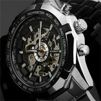 Wholesale Discount Men Watches - 2016 Fashion Brand Winner Stainless Steel Self Wind Automatic Mechanical Men Watch For Men sports Wristwatch DISCOUNT! Wholesale