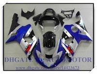 Wholesale Silver Blue Gsxr Fairings - Injection 100% brand new fairing kit fit for Suzuki GSXR1000 2000 2001 2002 GSX-R1000 00 01 02 GSXR 1000 00 01 02 #MX832 BLUE SILVER BLACK