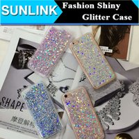 Wholesale Bling Powder - For iPhone 7 Bling Glitter Sequins Powder Case For iPhone 7 6 6s Plus 5 5s se Fashion Soft TPU Phone Cover