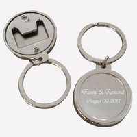 Wholesale Personalized Bottle Openers Wedding Favors - 100Pcs Personalized Party Gift Souvenir,Silver Customized Wine Bottle Opener Keychain Wedding Favors,Engagement Party Supplies