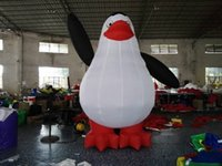 Wholesale Inflatable Waving - free air blower giant new style wave standing inflatable penguin balloon for event,promotion,party decoration