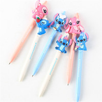 Wholesale Cute Lilo Stitch - Lilo & Stitch Stitch Angela cute convenient ball-point pen to write with pen cartoon children stationery 288pcs lot free shipping