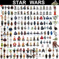Wholesale Star Wars Minifig Roles The Force Awaken Figures Rogue One The Last Jedi Darth Vader Mini Building Blocks Figures dhl OTH070