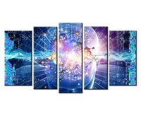 Wholesale Arts Elements - YIJIAHE Abstract Print Canvas Painting Element 5 Piece Canvas Art Wall Pictures For Living Room Large Wall Art d59