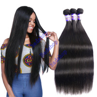 Brazilian Virgin Straight Hair Weave Bundles Cheap peruvian Indian Malaysian straight virgin hair Remy Extensões de cabelo humano Cor Natural