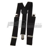 Wholesale Pants Braces Strap - Wholesale-1pcs Clip-on Adjustable Straps Unisex Pants Fully Elastic Y-back Suspender belt Braces