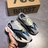 Wholesale Runner Accessories - TOP quality with original box Shoes & Accessories New Kanye West Wave Runner 700 Boost Mens shoes Women sports Boost bottom size 36-47