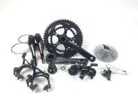 bisiklet grubu seti toptan satış-Yol Bisikleti Siyah sram apex Groupsets Bisiklet 172.5mm 53/39 11-26 Bisiklet Groupset 10 s 2 * 10 Hız