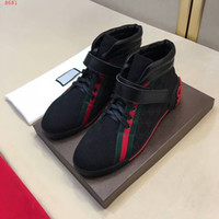 Com a caixa 2017 New Fashion Discount Wholesale Aace Up Men Black Causal Shoes Homens de couro genuíno Casual Shoes Breathable Loafers Flats Shoes