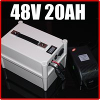 Wholesale 48v Lifepo4 - 48V 20AH LiFePO4 Battery ,with Portable Box 1000W BMS Chargrer , RC Solar energy E-bike Electric Bicycle Scooter 58.4V battery