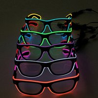 LED Party Lighting Glasses Moda EL Duas cores Glowing Glasses Xmas Birthday Halloween Neon Party Bar Costume Decor Supplies XL-G250