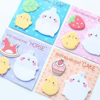Wholesale Notes Gift Book - Cute 20 sets lot Sticker Bookmark Tab Flags Memo Book Marker Sticky Notes School Office Paper Stationery New Kid Prize Gift