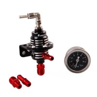 Wholesale Aluminum Gauges - 2016 Hot Aluminum Adjustable Fuel Pressure Regulator Type S With Black Gauge retail box free DHL