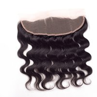 """Wholesale Side Parting Brazilian Hair Closure - 8A Peruvian Lace Frontal Closure Body Wave 13x4 Peruvian frontal closure piece ear to ear 13*4"""" lace frontal closure with baby hair closure"""