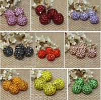 Wholesale Cheap Shamballa Bracelet Necklace - Cheap! free shipping 1000pcs lot 10mm Mixed Color Micro Pave CZ Disco Ball Crystal Shamballa Bead Bracelet Necklace Beads 2895