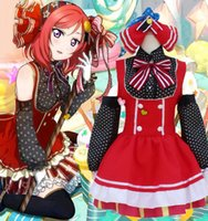 Wholesale Project Free Movie - Love Live ! School Idol Project Maki Cosplay Nishikino Japnese Candy Girl Dress Lovely Maid polka dots costume Suit