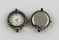 6PCS Antiqued Bronze Ornement ROUND Montre Visage 25mm # 20956 Montre de cadran de la montre de face à face