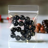 Wholesale Clear Plastic Bags Jewellery - 50Pcs  Lot 6.5*6.5cm Jewellery Clear PPE Poly Self Seal Valve Pack Bag Boutique Jade Anti-oxidation Zipper Plastic Packing Pouch