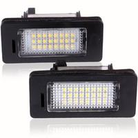 Wholesale Bmw X5 Tail Lights - 2Pcs LED License Plate Lights SMD3528 6000K Number Plate Light For BMW E82 E88 E90 E92 E93 E39 E60 Sedan M5 E70 X5 E71 E72 X6 order<$18no tr