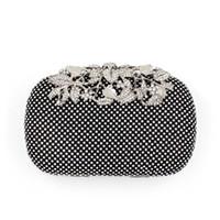 schwarze strap pu großhandel-2016 neue Mode Blätter Diamant Abend Kupplung Frauen Abendtaschen schwarz / Silber / Gold mit beiden Chians Femal Messenger Bags