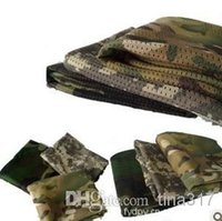 Wholesale Desert Camo Scarf - New Military Windproof Shemagh Desert ARAB Scarves Hijabs Scarf Cotton Outdoor Desert Camo ACU CP camouflage Pattern 50pcs  Lot 0655