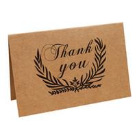 art de carte de papier achat en gros de-Carte de remerciement nombreux styles de fête d'anniversaire Fournitures pour événements Nostalgique Rétro Kraft Art Papier Cartes de vœux 0 7pn C R