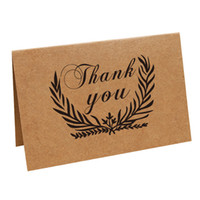 Wholesale greeting cards online - Thank You Card Many Styles Birthday Party Event Supplies Nostalgic Retro Kraft Paper Art Greeting Cards pn C R