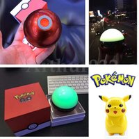 Wholesale Dancing Mini Music Speaker - Magic Pokeball Ball Go Bluetooth Mini Speaker Colorful Night Light LED Dance Poke Mon Portable Wireless Stereo Music Subwoofer Handsfree MIC