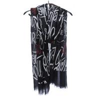 sarongs senhoras venda por atacado-Long algodão Mulheres cachecol de linho letras impressas Padrão Melhor Xmas presente Lady Outdoor Praia Sarongs Folha Shawl Pattern