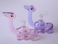 Wholesale Slit Cut - 2016 new COLORED Dino Rigs oil rigs dab rigs with 4 slit cuts on the perc 14.5mm female polished joint