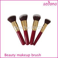Wholesale Popular Tools - 4pcs Cosmetics Kit Popular Brazil Makeup Brush for Makeup Brushes Professional Artist and Newer Make Up Tools