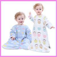 Wholesale Baby Diaper Blanket - Summer Cotton Baby Anti Kick Zipper Changing Diaper Nightwear Newborn Baby Kangaroo Blanket Swaddle Sleep Sack Baby Clothes