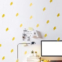 Wholesale Luminous Wall Stickers For Children - 420PCS LOT Luminous Wall Stickers Lightning Decorative Wall Children Home Decoration Originality & Cartoon art Wall decors Free Shipping