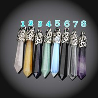 Wholesale Amethyst Pendulum Pendant - Natural Amethyst Point Pendant Opal Point Pendant Crystal Quartz Point Gemstone Pendant Healing Stone Pendulum Pendant Natural Quartz
