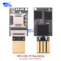 Wholesale Gps Voice Recorder - Smallest ZX618 PCBA Module MTK6261D Wifi LBS GSM GPS Tracker Locator TF card Voice Recorder Monitoring Indoor Accuarcy 10m Mini 20*13mm Hot!
