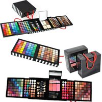 black lighting discs - Fashion Make up Box Deluxe Color Eyeshadow Bronzing Combination Disc Makeup Set Makeup Kit Eye Shadow