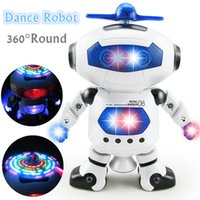 Wholesale Electronic Robot Toys For Wholesale - 2017 New Smart Space Dance Robot Electronic Walking Toys With Music Light Gift For Kids Astronaut Toys For Children