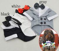 ropa extra grande de boda al por mayor-Productos para perros al por mayor perro de algodón esmoquin de la boda ropa de perro perro de invierno mascotas ropa capa de perro smaill ropa de perro perro vestidos de fiesta