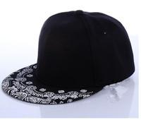 Wholesale Wholesale Mens Canvas - Fashion Ball Hats Unisex Hip-Hop Fitted Snapbacks Baseball Cap Mens Women Adjustable Bboy Tide Flat Canvas Snapback Paisley Hats PX157