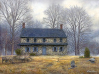 Wholesale Beautiful Oil Painting Abstract Canvas - Thomas Kinkade Oil Paintings Art landscape Beautiful countryscape HD Picture Giclee Print On Canvas Modern Home Art Living Room Decor jhfj71