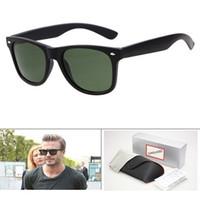 quadros pretos para homens venda por atacado-Quadro de alta qualidade Plank Sunglasses Preto Verde Lens Óculos de sol do metal dobradiça Óculos Homem Sunglasses Mulheres óculos unissex óculos de sol