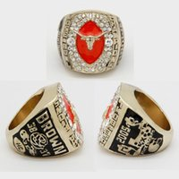 Wholesale Gold University Ring - Free Shipping New 2005 University of Texas Rose Bowl Football NCAA Championship Replica Ring Size 11 Amazing Quality
