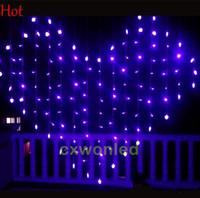 Wholesale lit curtains resale online - Christmas LED String Light Holiday Sale colors Height m curtain Xmas Led Christmas Wedding Party Decoration Lights V V
